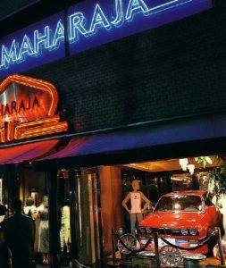 当時の東京マハラジャの入り口