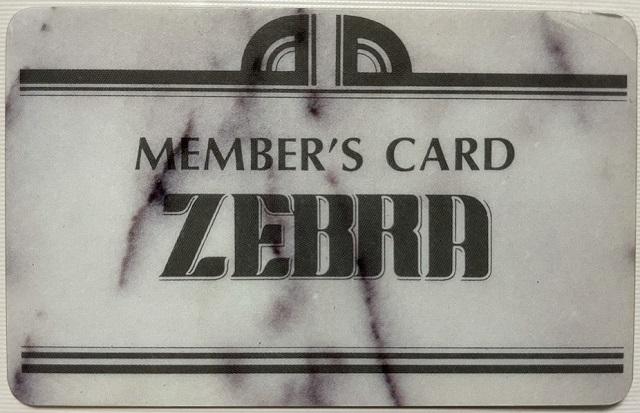ゼブラ メンバーズカード